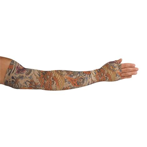 LympheDudes Lotus Dragon Tattoo Compression Arm Sleeve And Gauntlet
