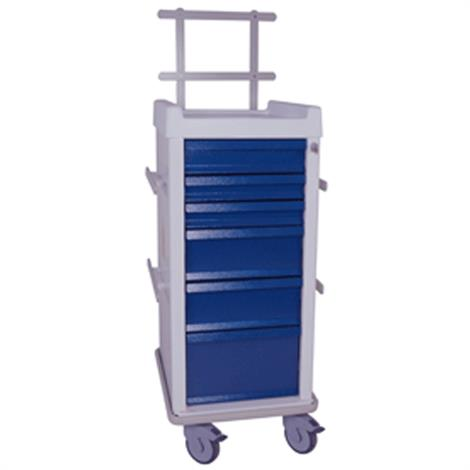 Harloff MR-Conditional Narrow Six Drawer Anesthesia Cart