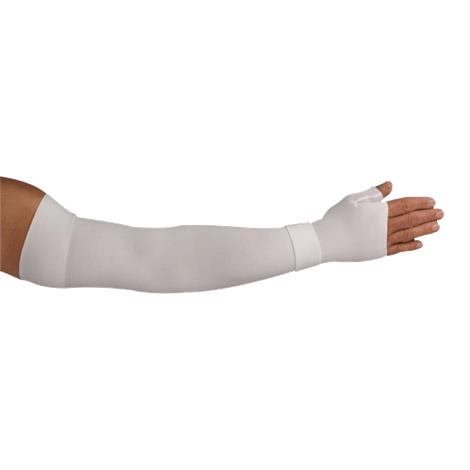 LympheDudes White Compression Arm Sleeve And Gauntlet