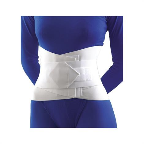 FLA Orthopedics Lumbar Sacral Support with Overlapping Abdominal Belt