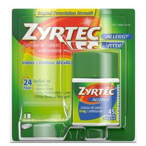 Buy Johnson & Johnson Zyrtec Allergy Relief Antihistamine Tablet