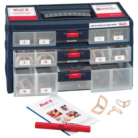 3pp Oval 8 Finger Splints Kit