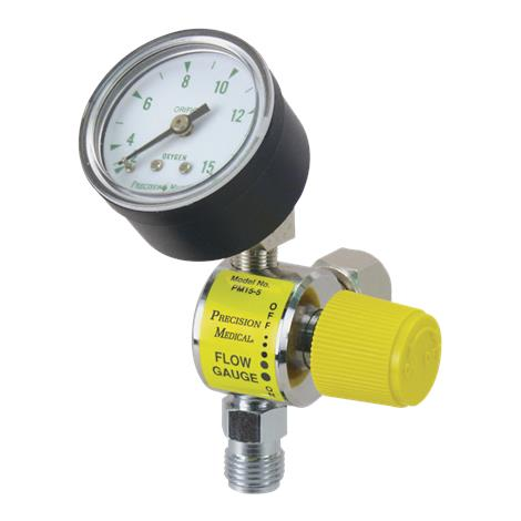 Precision Medical Flow Gauge with Female Hex Nut