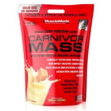Muscle Meds Carnivor Mass Beef Protein Dietary Supplement