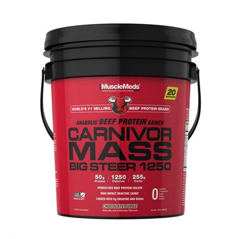 Muscle Meds Carnivor Mass Big Steer 1250 Beef Protein Dietary Supplement