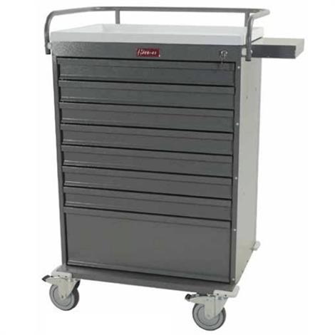 Harloff Value Line 216 Unit Dose Box Medication Cart with Narcotics Box