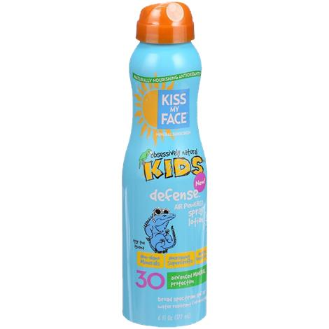 Kiss My Face SPF 30 Mineral Sunscreen Kids Defense Air Powered Spray