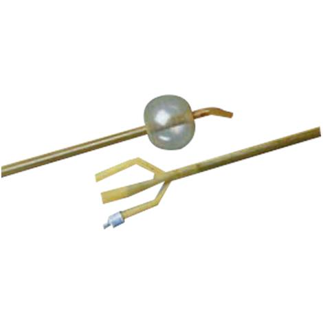 Bard Bardex Lubricath Three-Way Hematuria Coude Tip Latex Foley Catheter With 30cc Balloon Capacity
