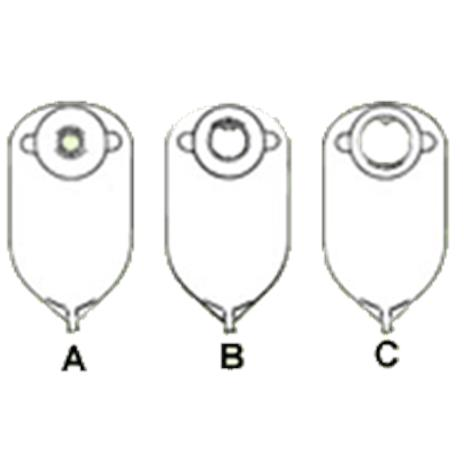 Nu-Hope Deep Convex Round Cut-to-Fit Adult Urinary Pouch with Flutter Valve