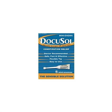 Buy Alliance Labs DocuSol Constipation Relief Mini Enemas