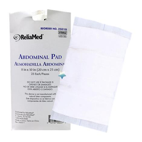 ReliaMed Absorbent Abdominal Pads