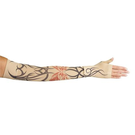 LympheDivas Inked Compression Arm Sleeve And Gauntlet