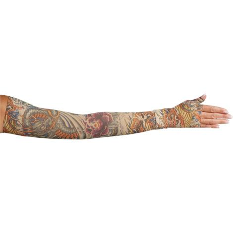 LympheDivas Lotus Dragon Tattoo Compression Arm Sleeve And Gauntlet