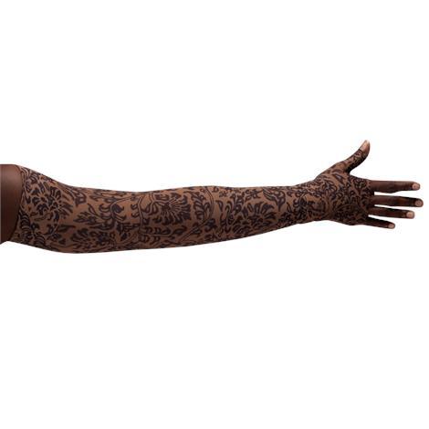 LympheDivas Damask Mocha Compression Arm Sleeve And Gauntlet