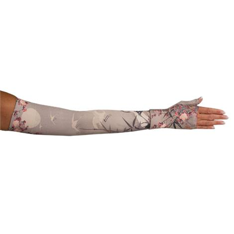 LympheDivas Plum Blossom Compression Arm Sleeve And Gauntlet