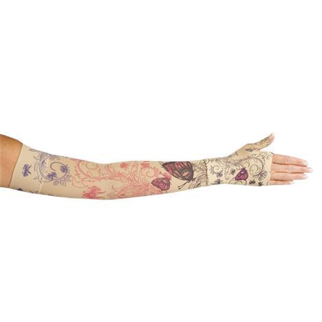 LympheDivas Mariposa Beige Compression Arm Sleeve And Gauntlet