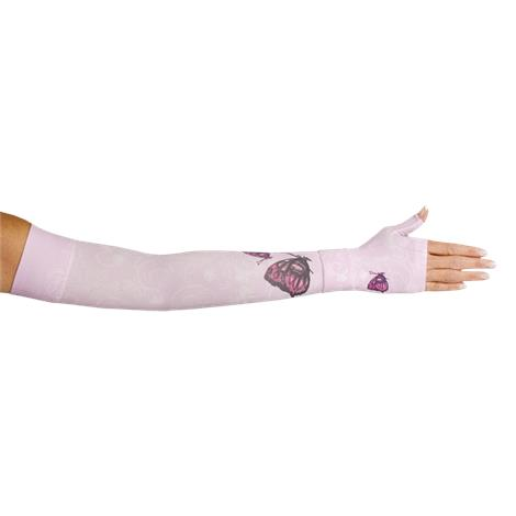 LympheDivas Mariposa Pink Compression Arm Sleeve And Gauntlet