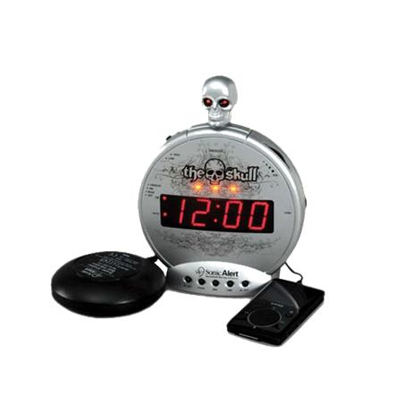 Sonic The Skull Alarm Clock with Bone Crusher Bed Shaker