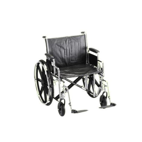 Buy Nova Medical Standard Manual Steel Wheelchair With Dual Cross Bar