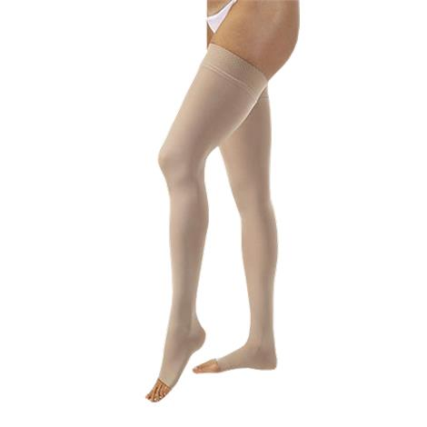 BSN Jobst Opaque Large Open Toe Thigh High 30-40mmHg Extra Firm Compression Stockings