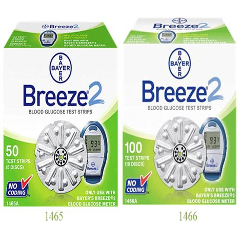 Bayer Ascensia Breeze 2 Blood Glucose Test Strips
