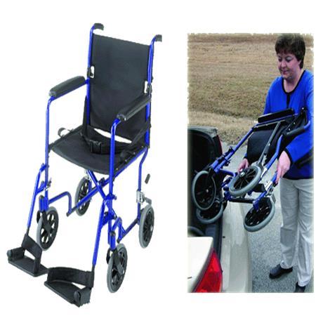 Buy Mabis DMI 19 Inches Ultra Lightweight Aluminum Transport Chair