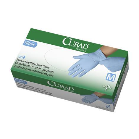 Medline Curad Powder-Free Nitrile Exam Gloves