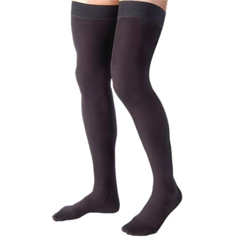 BSN Jobst for Men Closed Toe Thigh High 15-20 mmHg Ribbed Compression Stockings