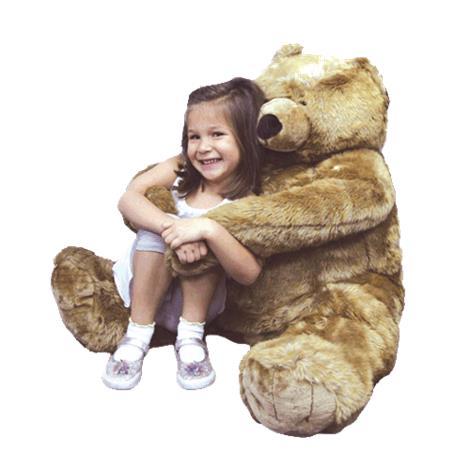 Jumbo Brown Bear Therapeutic Learning Plush Toy