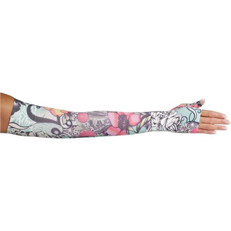 LympheDivas Tattoo Blossom Compression Arm Sleeve And Gauntlet