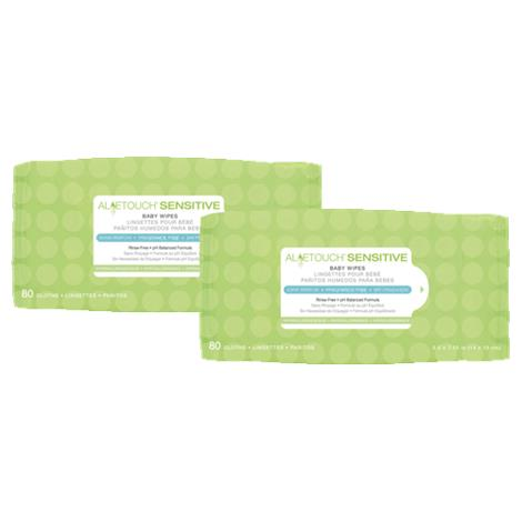 Medline Aloetouch Sensitive Fragrance Free Baby Wipes