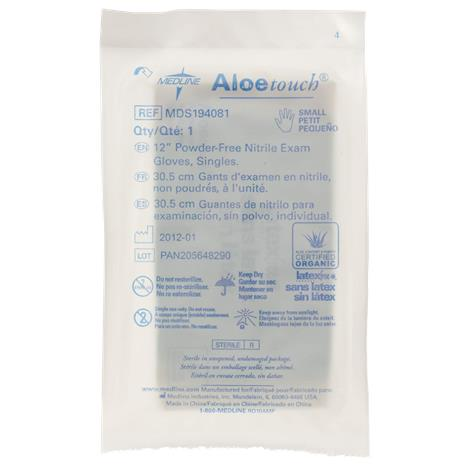 Medline Aloetouch 12 Inches Powder-Free Nitrile Exam Gloves