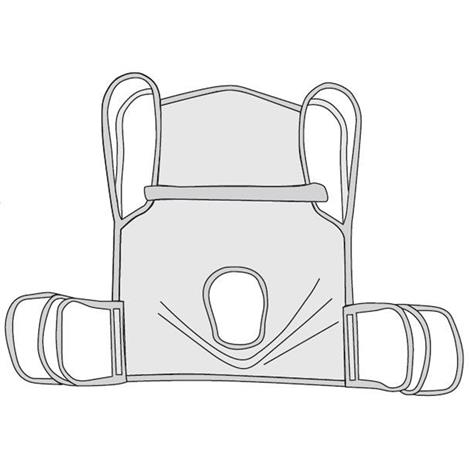Drive Polyester One-Piece Commode Sling With Positioning Strap