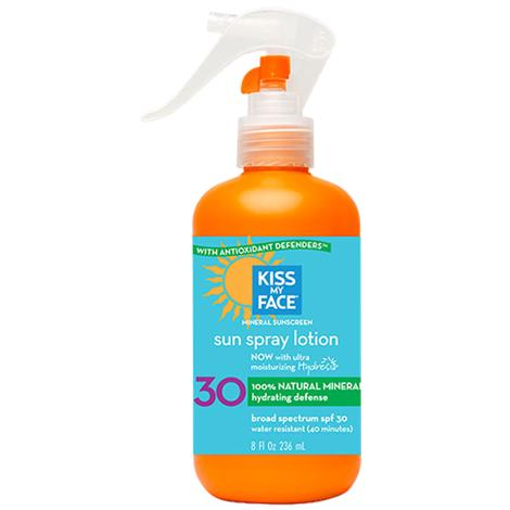 Kiss My Face Natural Mineral SPF 30 Sun Spray Lotion
