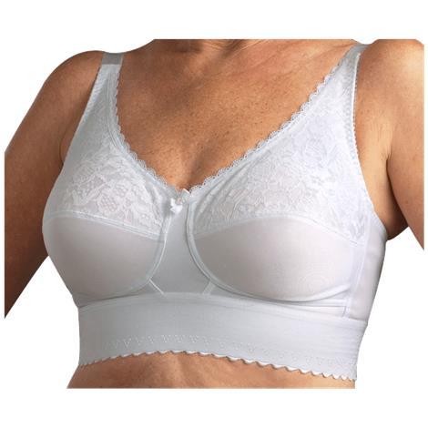 Nearly Me 610 Lace Wide Band Mastectomy Bra
