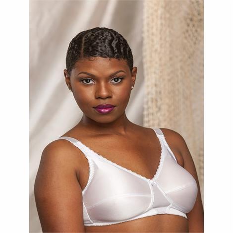 Nearly Me 630 Plain Soft Cup White Mastectomy Bra