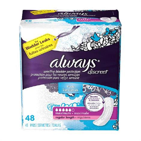 Buy Always Discreet Maxi Contoured Liner Incontinence Liner - Moderate Absorbency