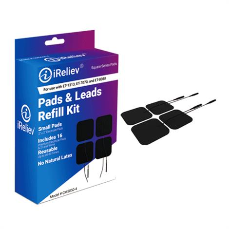 iReliev Pads & Leads Refill Kit for OTC Tens Device