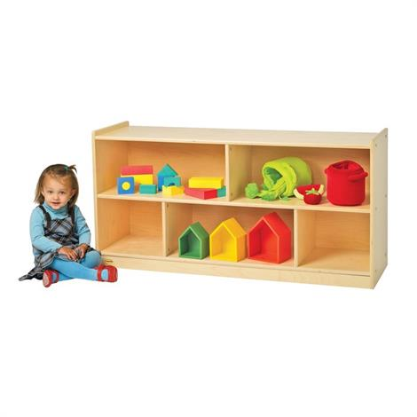 Buy Childrens Factory Angeles Birch Mobile Divided 2-Shelf Storage