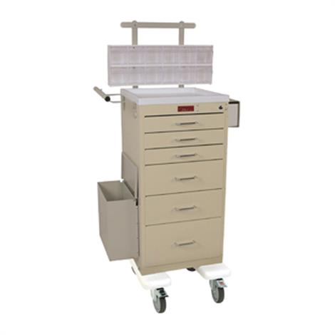Harloff Six Drawer Mini Line Phlebotomy Cart Package