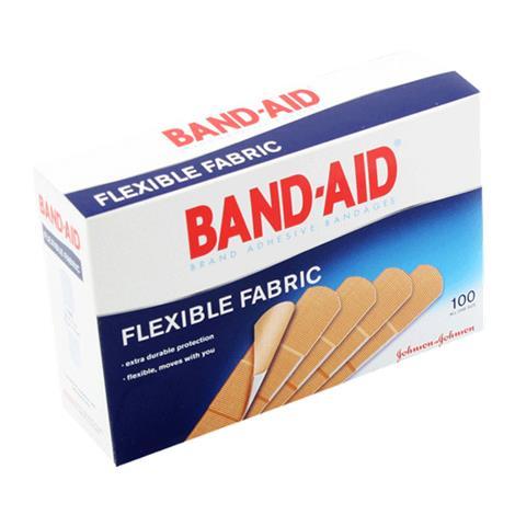 Johnson & Johnson Band-Aid Flexible Fabric Strip Adhesive Bandage