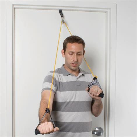 CanDo Shoulder Pulley With Exercise Tubing And Handle