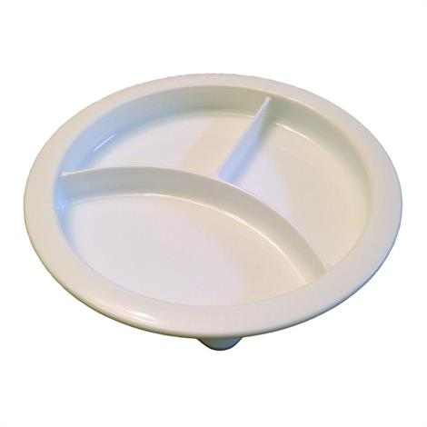 B&L Partitioned Scoop Dinner Plate