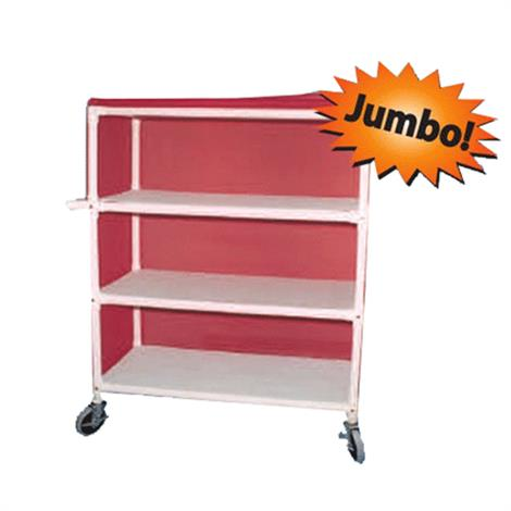 Duralife Extra Wide Linen Cart With Shelf