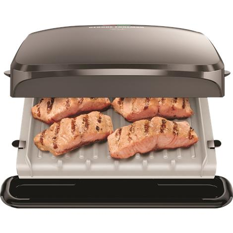 George foreman 4 serving removable plate grill appliances - Health grill with removable plates ...