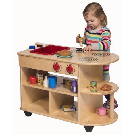 Buy Childrens Factory Angeles Birch Toddler 2-In-1 Kitchen