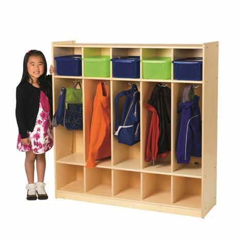 Buy Childrens Factory Angeles Birch 5-Section Locker
