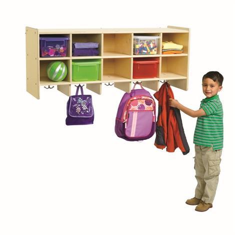 Buy Childrens Factory Angeles Birch 10-Section Wall Locker