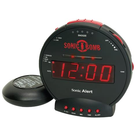 Buy Sonic Bomb Alarm Clock with Bed Shaker