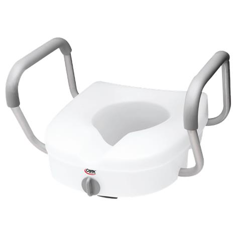 Carex EZ Lock Raised Toilet Seat With Adjustable Handles